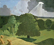 A Gloucestershire Landscape, John Northcote Nash, 1914, oil on canvas, WA1978.67 © Ashmolean Museum, University of Oxford © The Estate of John Nash, All Rights Reserved 2014, Bridgeman Art Library